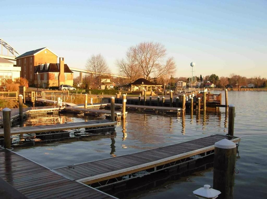 The docks at the marina