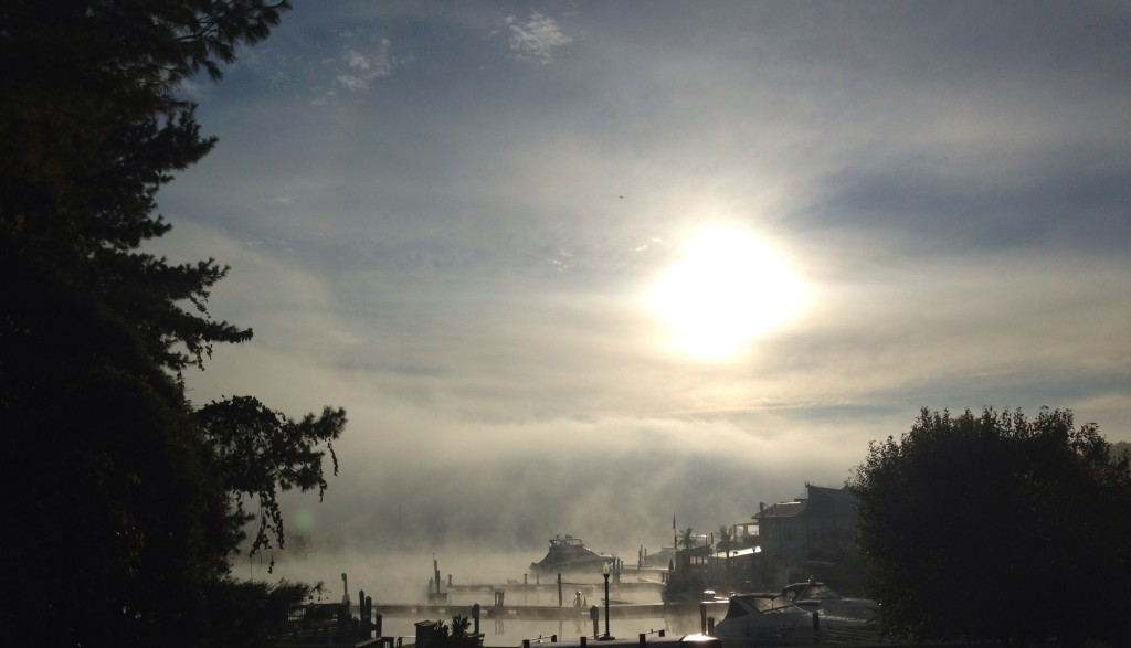 Fall fog on the Basin