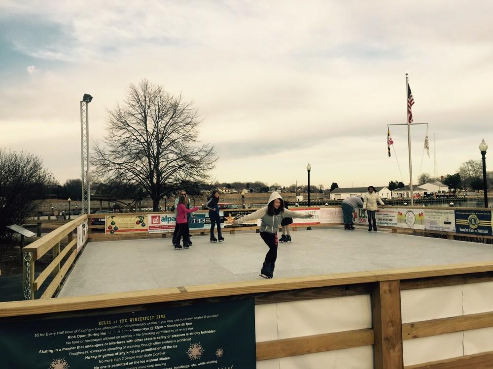 Skating Rink 2015 with teenaged skaters