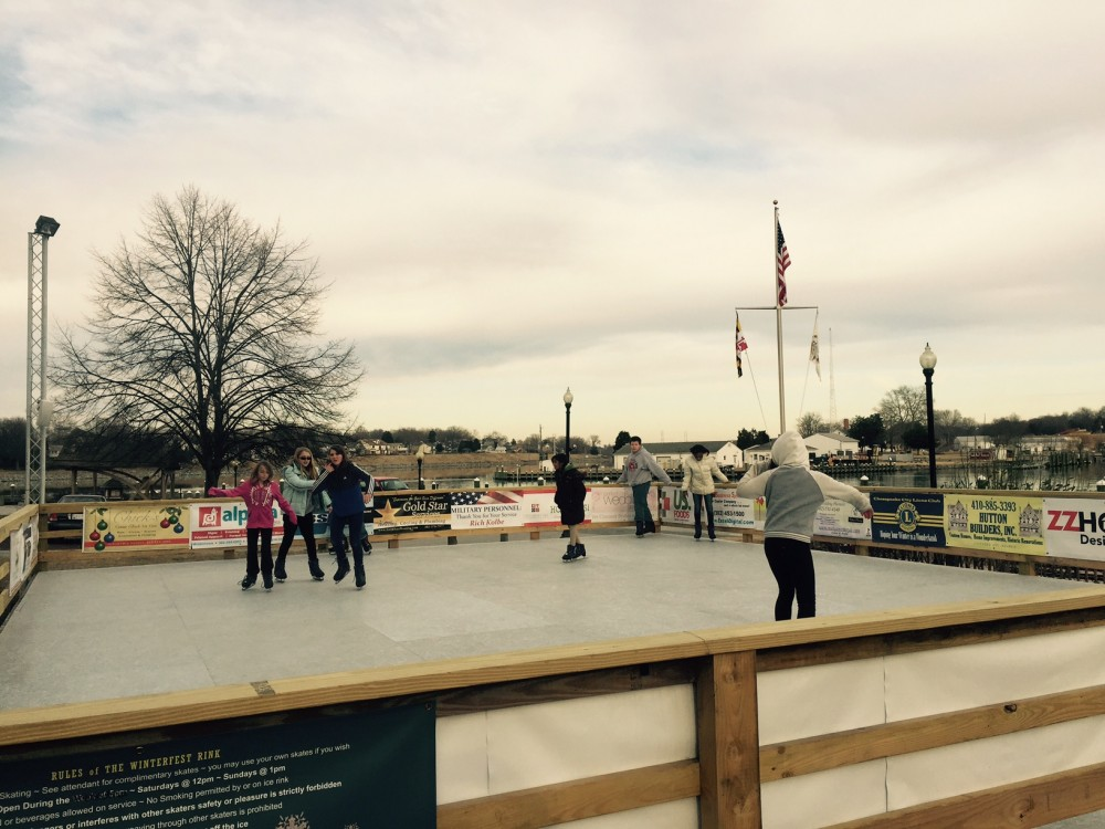 Skating Rink with skaters during cloudy day in 2015