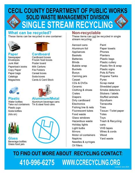 Single Stream Recycling Flier